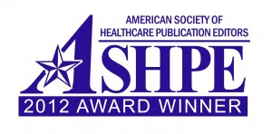 Clinical Correlations Wins 2012 Gold Award from the American Society of Healthcare Publication Editors